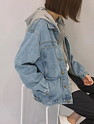 Korean version was thin loose denim jacket women short paragraph jacket BF College Wind handsome coat jacket