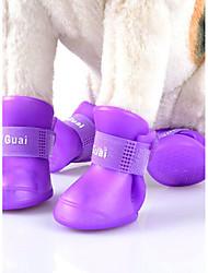 Chat Chien Chaussures & Bottes Mignon Sportif Mode Réversible Coupe-vent Etanche Couleur Pleine Orange Violet Jaune Vert Cuir PU