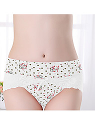 Lace Solid Ultra Sexy PantiesCotton
