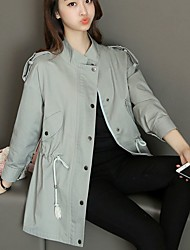 # 2698 automne nouvelle version coréenne de la longue section de la couleur unie droite de la femme de ville féminine à manches longues