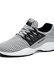 Черный Серый Синий-Для мужчин-Для прогулок Повседневный Для занятий спортом-Тюль-На плоской подошве-Удобная обувь Светодиодные подошвы-