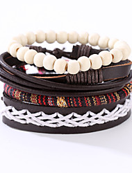 The New Vintage Cowhide Ancient Hand Woven Bracelet Cortical Layers Hand Rope Men's Bracelet Adjustable Size036