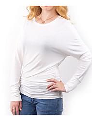 Mulheres européias e americanas&# 39; s outono e inverno do comércio exterior hot morcego manga mangas compridas t-shirt um t-shirt