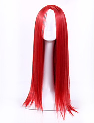 Fashion Red Color Straight Wigs Synthetic Wig For Black Women