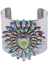 Femme Manchettes Bracelets Bijoux Mode Vintage Style Punk Gemme Alliage Forme Géométrique Or Argent Bijoux Pour Occasion spéciale 1pc
