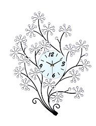 Fashion Creative Big Tree Metal  Mute Wall Clocks