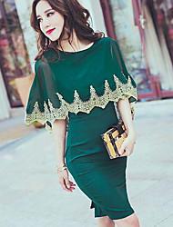 2016 лето новые нас не доходят до суда стиль кружева плащ шифон платье юбка карьера женская волна значительная фигура
