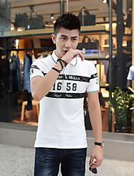 Neue Männer koreanische Version des dünnen Kurzhülse T-Shirt Pique Baumwolle kurz-sleeved T-Shirt Revers Polo