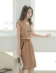 Clearance verão real verão 2017 coreano mulheres vestido gordura mm algodão literário sen departamento de vestido solto