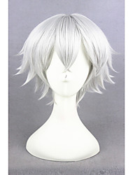Mujer Pelucas sintéticas Sin Tapa Corto Liso Plata Peluca de cosplay Las pelucas del traje