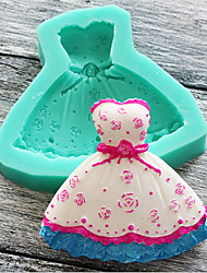 Super Light Clay Double Sugar Chocolate Cake Mould Princess Skirt Baking Tools Color Random