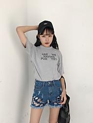 Sign wild tassel 2017 nova reta jeans jeans furo denim shorts feminino