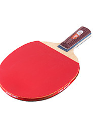 1 Star Table Tennis Rackets Ping Pang Wood Long Handle Pimples Indoor Performance Practise Leisure Sports-#