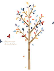 Wall Stickers Wall Decals Style Creative Tree PVC Wall Stickers