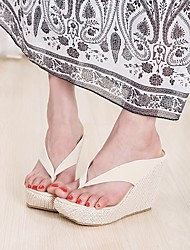 Women's Loafers & Slip-Ons Creepers Slingback Fleece Summer Casual Creepers Slingback Wedge Heel White Black Blushing Pink 1in-1 3/4in