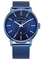Мужской Модные часы Кварцевый Нержавеющая сталь Группа Повседневная Черный Серебристый металл Золотистый Темно-синийЗолотой Черный