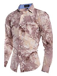 Men's Personality Casual Fashion Long-Sleeved Shirt