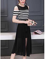 2017 été nouveau couloir autour du cou mince un mot en bas de la robe robe sans bretelles korean