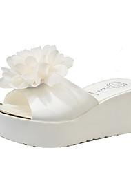 Women's Slippers & Flip-Flops Summer Mary Jane Leatherette Outdoor Dress Casual Wedge Heel Flower Walking