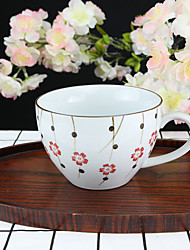 Classic Japanese Flower High Temperature Porcelain Tea Cup/Coffee Mug 330 ml
