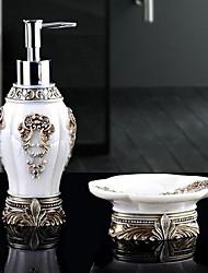 Bathroom Accessory Set of 2 Objects Resin /Barroco