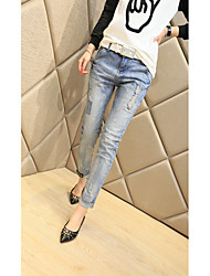 Ms. jeans new Korean Women tide models worn significantly thin feet harem pants female trousers