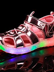 Fille-Extérieure Décontracté Sport-Or Argent Rose-Talon Plat-Confort Nouveauté Light Up Chaussures-Sandales-Polyuréthane