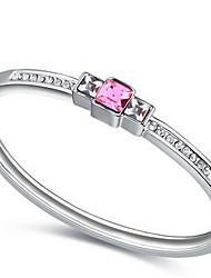 Mulheres Bracelete Jóias Amizade Moda Cristal Liga Forma Geométrica Laranja Roxo Vermelho Azul Rosa claro Jóias Para Aniversário 1peça