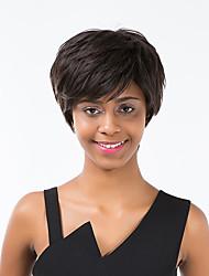 venta caliente negro esponjoso peluca de cabello humano pelo corto para las mujeres