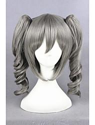 curta o ídolo mestre peruca meninas Cinderela cinza 16 polegadas anime sintética rabos de cavalo peruca cosplay cs-251A
