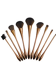 New Fund Sell Like Hot Cakes Fashion 9 Nouveau Riche Golden Professional Make-Up Brush Tool Set Package By