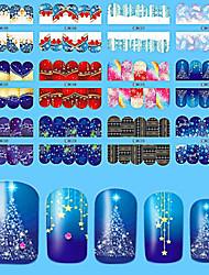 10pcs/style Autocollant d'art de clou Autocollants de transfert de l'eau Autocollants 3D pour ongles Maquillage cosmétique Nail Art Design