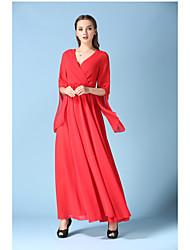 O novo afluxo de gordura mm chiffon saia beach resort vestido de praia vestido de verão vermelho metros grandes