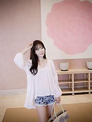 2017 koreanische Version der neuen Pflaumenblüte Stickerei hohe Taille Quaste breites Bein Jeans-Shorts Grat Nostalgie Shorts