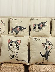 7 pcs Linen Pillow Cover Pillow Case,Animal Print Novelty Still Life Graphic Prints Modern/Contemporary Office/Business Others Euro