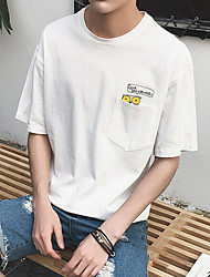 Impressão de bolso coruja macho de manga curta t-shirt bottoming camisa m aberdeen vento