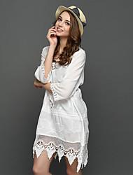 Ebay AliExpress new embroidered openwork embroidery loose bud big yards long section of beach dress Sisha