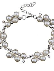 Femme Bracelets de rive Bijoux Mode Vintage Style Punk Perle Alliage Forme Géométrique Bijoux Pour Occasion spéciale