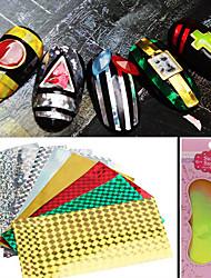 8 Adesivos para Manicure Artística Folha Tape Stripping maquiagem Cosméticos Designs para Manicure
