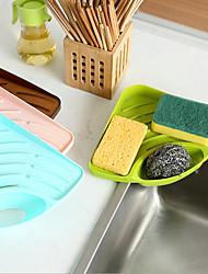 Kitchen Sink Multi-functional Rack Sponge Drop Cup Brush Sundry Receive Plastic Shelf  Color Random