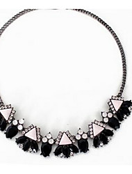Women's Strands Necklaces Multi-stone Gem Chrome Fashion Euramerican Black Gray Jewelry For Party Special Occasion Gift 1pc