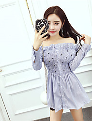 Nett Sign Korean version of sweet flounced collar shirt waist Puff sleeve beading shirt female speaker