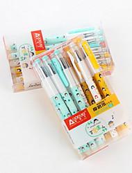 Gel Pen Stylo Stylos gel Stylo,Plastique Baril Bleu Couleurs d'encre For Fournitures scolaires Fournitures de bureau Paquet