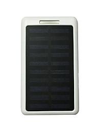 Banco de poder 10led 8000mah 5v2a com carga solar para o telefone móvel