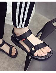 Masculino-Sandálias-ConfortoPreto-Tule-Casual