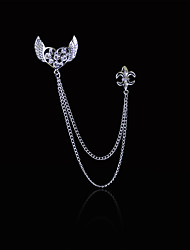 Women's Boys´ Other Brooches Heart Euramerican Hip-Hop Personalized Gold Plated Alloy Heart Anchor Wings / Feather Silver Gold Jewelry For