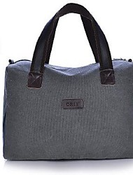 Unisex Bags All Seasons Canvas Tote with for Casual Office & Career Blue Black Gray Coffee khaki
