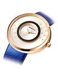 REBIRTH® Women's Fashion Watch Quartz Alloy Band Blue Grey