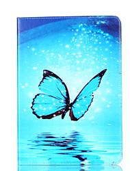 Para o ipad da maçã mini 4 3 2 1 tampa do caso cartão de teste padrão da borboleta stent material do plutônio escudo de proteção liso