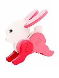 Puzzles Puzzles 3D Blocs de Construction Jouets DIY  Rabbit Bois Maquette & Jeu de Construction